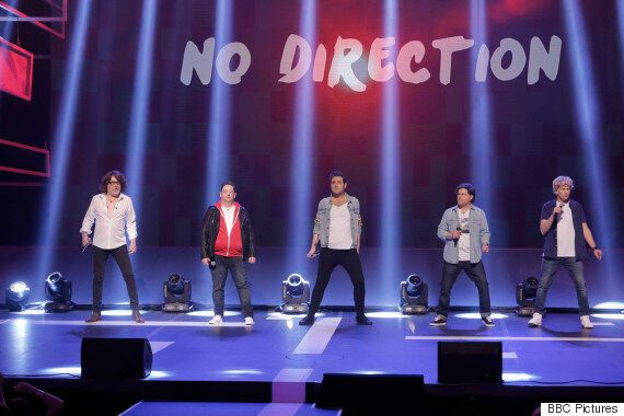 Comic Relief: One Direction Tribute Band No Direction Get Funny For Money With Red Nose Day Performance