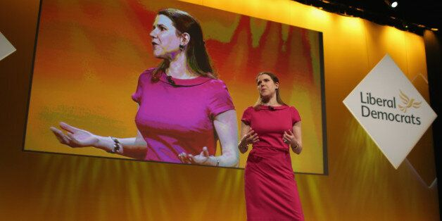 LIVERPOOL, ENGLAND - MARCH 14: Jo Swinson MP, Under Secretary of State for Women and Equalities, delivers...
