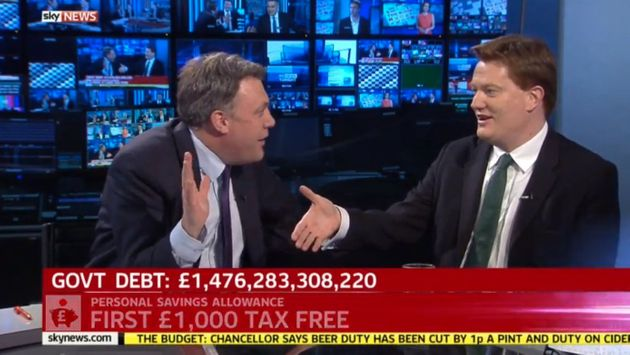 Budget 2015: Danny Alexander Fails To Get Ed Balls To Shake His Hand: 'Come On Ed, Shake