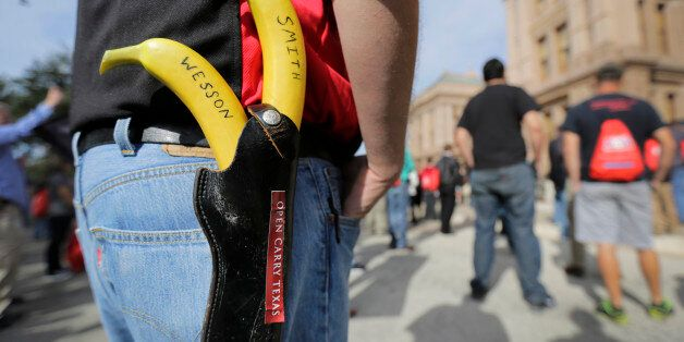 Jason Green wears a holster with bananas
