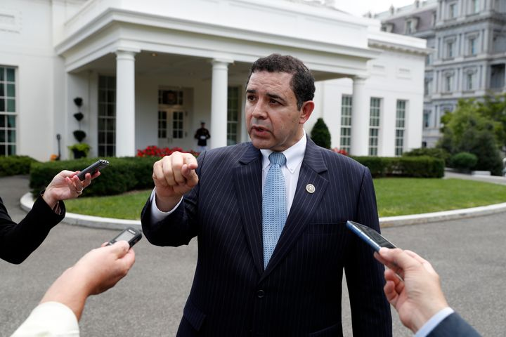 Rep. Henry Cuellar (D-Texas) speaks after a bipartisan meeting with President Donald Trump in Sept. 2017. His record of coope