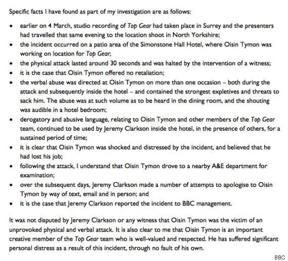 Jeremy Clarkson Sacked: BBC Boss Tony Hall Releases Finer Details Of Incident Causing 'Top Gear' Host...