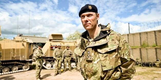 Brigadier Darrell Amison, commander Joint Force Support, at Copehill Down Village, as 20th Armoured Brigade...