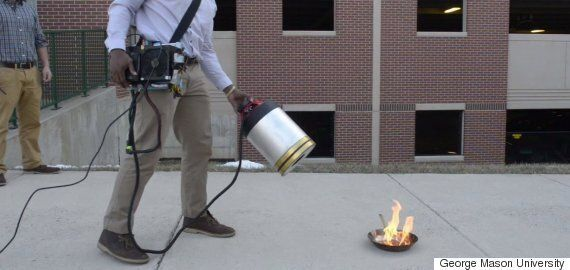 Student Extinguishes Fire With Nothing But