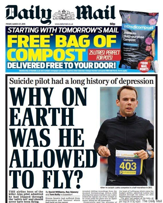 Andreas Lubitz 'Depression' Headlines Slammed By Mental Health Charities As