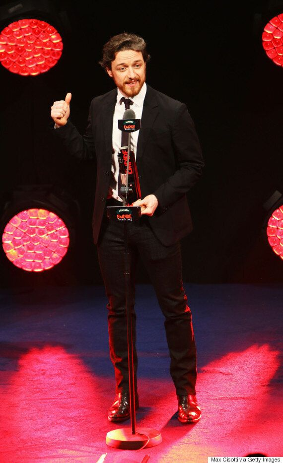 Empire Awards 2015: James McAvoy Thanks Jennifer Lawrence's Naked Body During Cheeky 'X-Men' Acceptance...