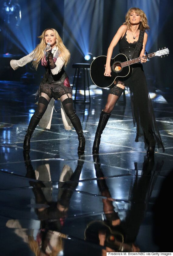 Madonna Performs New Single 'Ghosttown' With Taylor Swift At iHeartRadio Awards