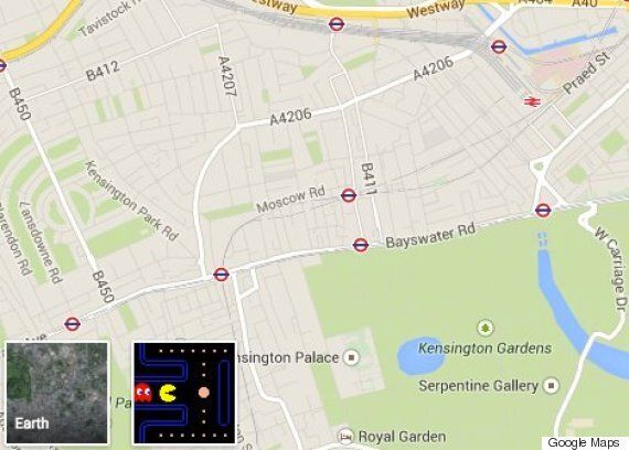 Google Maps Now Lets You Play Pacman On Any