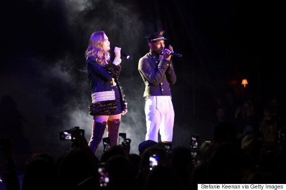 Cara Delevingne And Pharrell Williams Perform 'CC The World' At Chanel Fashion Show