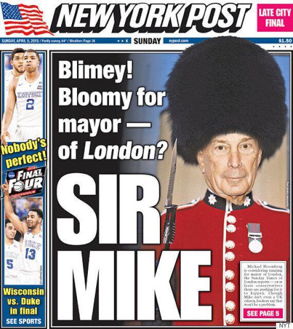 Murdoch Empire Pushing American Michael Bloomberg To Follow Boris Johnson As London