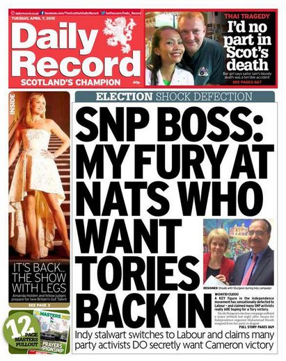 SNP 'Boss' Defects to Scottish