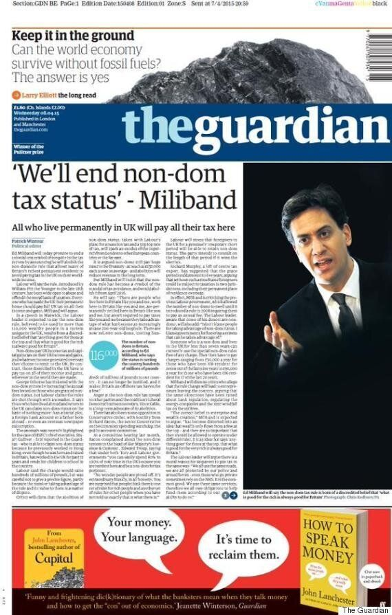 Ed Miliband's Pledge To Scrap Non-Dom Tax Status Hit By Gaffe Before It's Even