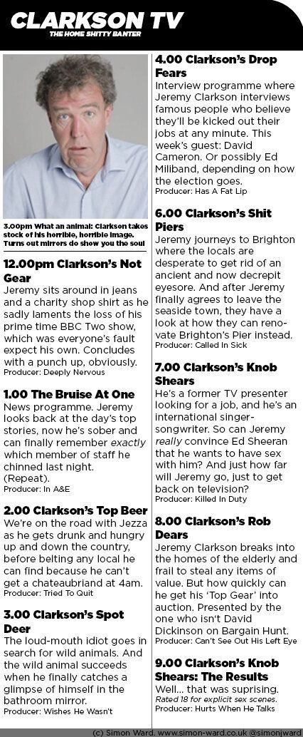 Clarkson TV Unveiled: What An Entire Jeremy Clarkson TV Channel Comeback Would Look