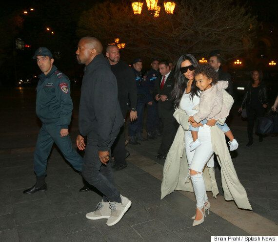 Kim Kardashian And Kanye West Arrive In Armenia Ahead Of The 100th Anniversary Of The Armenian Genocide