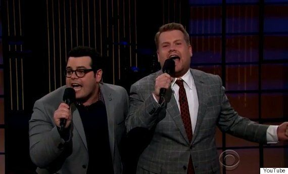 James Corden Duets With Olaf From 'Frozen', Aka Josh Gad, On 'The Late, Late Show'