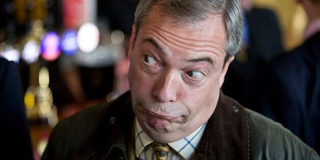 UKIP leader Nigel Farage speaks to the media at The Nag Heads, Stoke, on the day of Rochester and Strood
