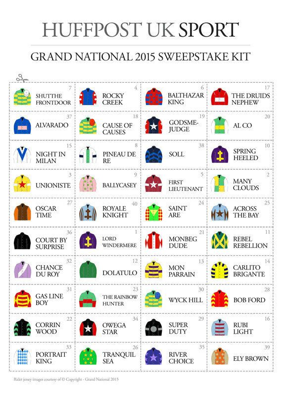 Print Your Own Grand National Sweepstake