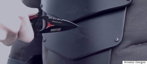 Real Life Batman Suit Can Stop A Knife