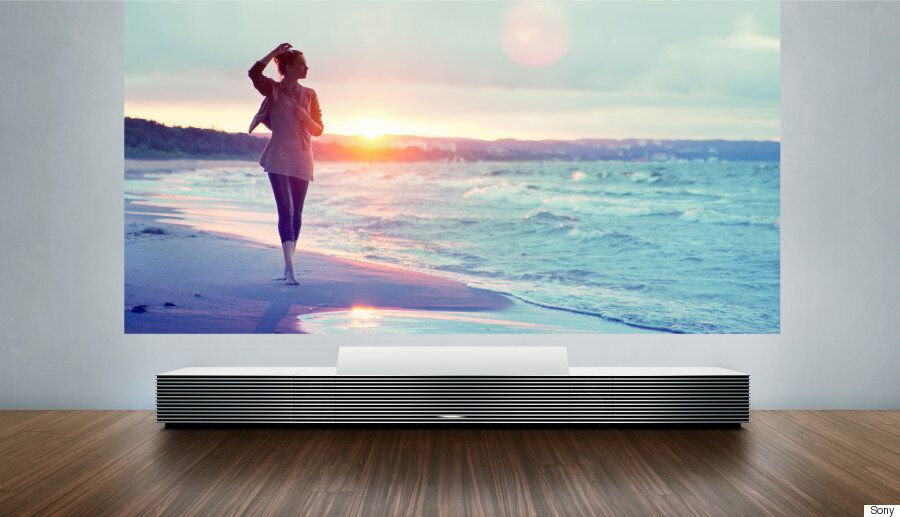 Sony's Stylish Cabinet Uses Lasers To Throw A Massive 147-inch 4K Screen Onto Your