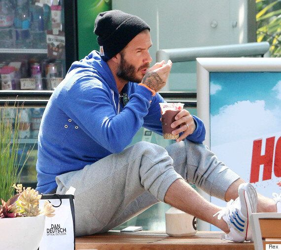 David Beckham Spends A Little Father/Daughter Time With Harper As The Pair Cool Off In LA
