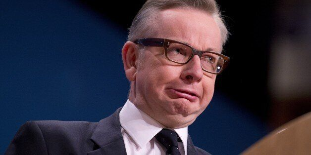 Conservative Party Chief Whip Michael Gove addresses delegates on the final day of the annual Conservative...