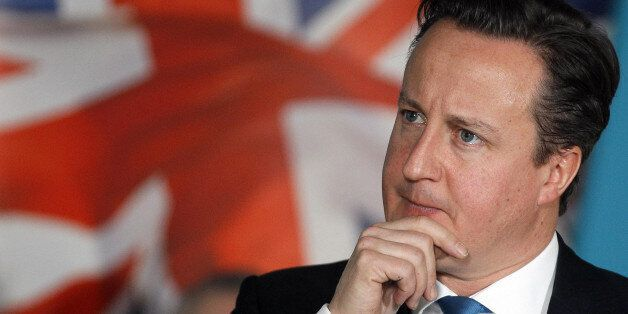 Prime Minister David Cameron speaks during the first Prime Minister Direct event of 2012 hosted by Intuit...