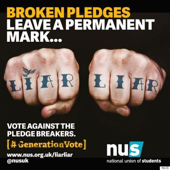 National Union of Students Launch Advertising Campaign Targeting Lib Dems Who Broke Tuition Fee