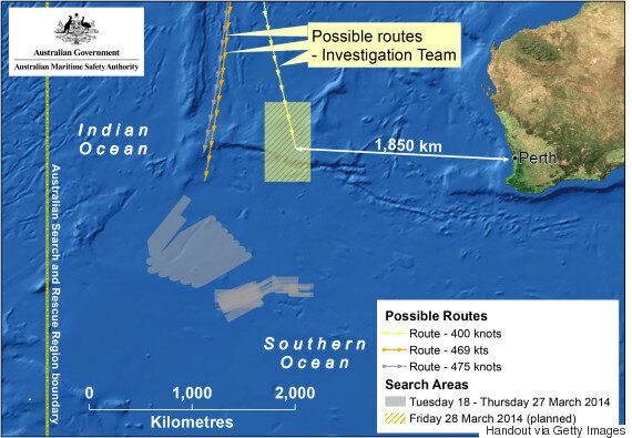 MH370 Malaysia Airlines Search Area To Be
