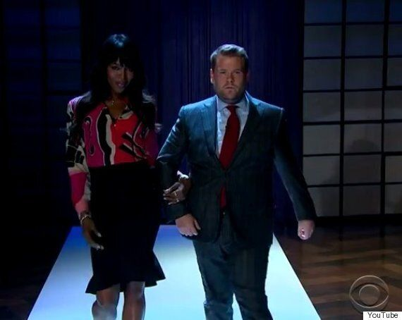 Naomi Campbell Shows James Corden How It's Done On 'The Late, Late Show'