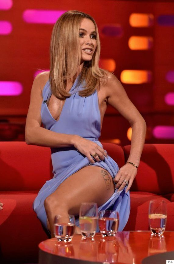 Amanda Holden Flashes A Cheeky Tattoo Of Fellow 'Britain's Got Talent' Judge Simon Cowell On 'The Graham...