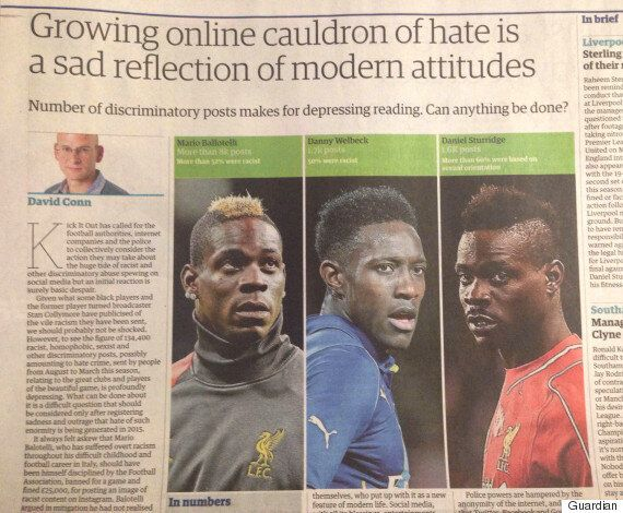 The Guardian Use Picture Of Mario Balotelli To Illustrate Daniel Sturridge In Racism