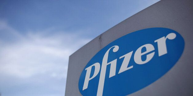 File photo dated 17/08/11 of the logo of US drugs giant Pfizer. The company has confirmed details of...