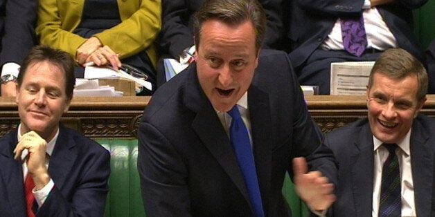 Prime Minister David Cameron speaks during Prime Minister's Questions in the House of Commons,