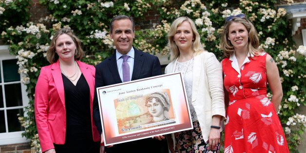 Left to right, Mary Macleod, a Conservative member of parliament, Mark Carney, governor of the Bank of...