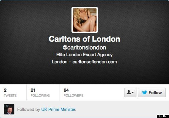 David Cameron Follows High-Class London Escort Agency On Twitter, CCHQ Blames Gordon