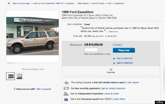 Sarah Palin's Used Car Lonely And Rejected On Ebay With Zero