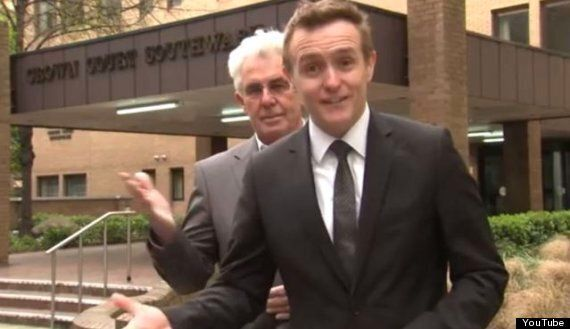 Max Clifford Sneaks Up On Sky News Reporter, Tom Parmenter, In Bizarre Video Taken Outside