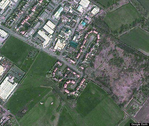 Penis Shaped Merseyside Housing Estate On Google Earth