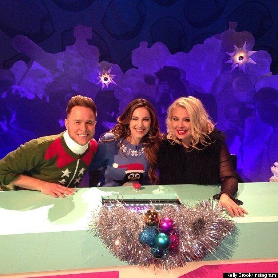 Kelly Brook Transforms Into A Man For 'Celebrity Juice' Christmas Special