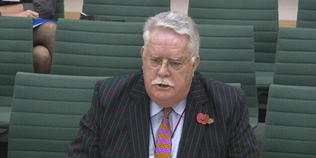 Co-operative Bank chairman Reverend Paul Flowers in front of the Treasury Select Committee on November...