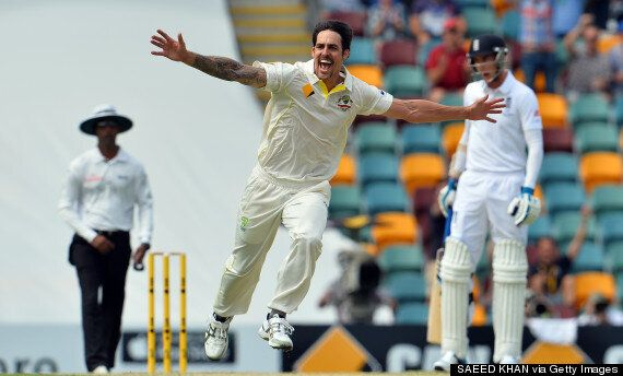 Australia's Mitchell Johnson Humiliates England: First Ashes Test, Day Two, In