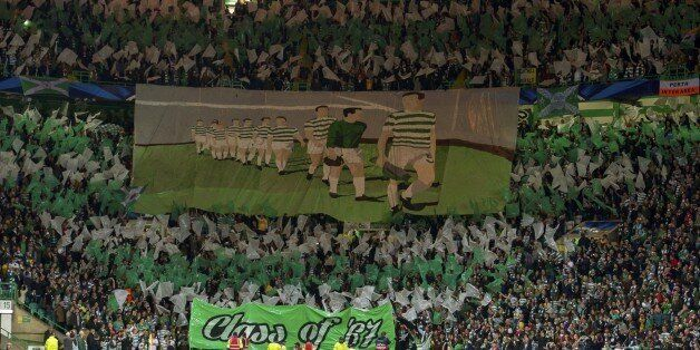 A shot of Celtic fans prior to their home clash with Ajax two weeks before they played in
