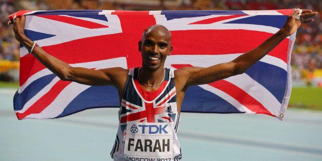 File photo dated 16/08/2013 of Great Britain's Mo Farah celebrates winning the Men's 5000