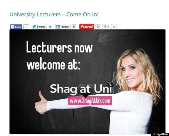 ShagAtUni Sex Site Luring Lecturers In To Sleep With Their