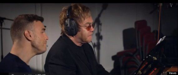 Gary Barlow And Sir Elton John Jam At Abbey Road In 'Face To Face' Promo
