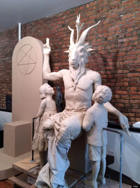 Satanic Temple's 7ft 'Baphomet' Demon Is Coming Along Nicely
