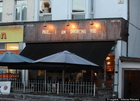 Wife Announces Divorce On Wales Bar Sign After Discovering Husband Is Having