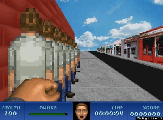 'Waiting In Line 3D' Is Deliberately The Worst Video Game Ever