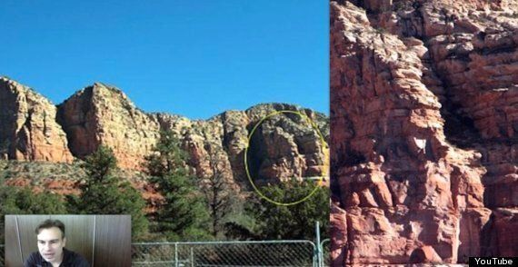UFO Conspiracy Claims This Rock 'Face' Is Proof Of Underground Alien Base.