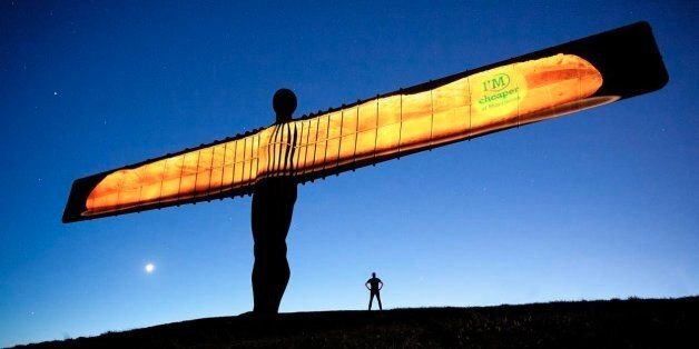 Morrisons Apologise After Beaming Giant Bread Stick Onto Angel Of The North, The Internet Reacts